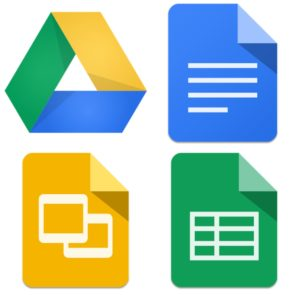 google doc, sheets, slides, drive