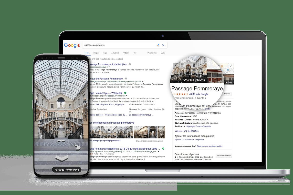 visite virtuelle google passage pommeraye nantes