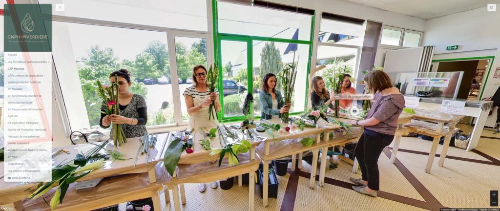 visite virtuelle ecole bp fleuriste